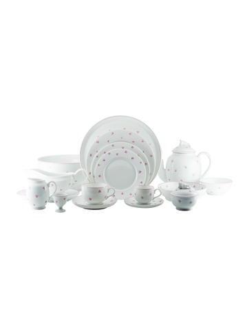 Lalique 217-Piece Porcelain Muguet Partial Dinner Service None