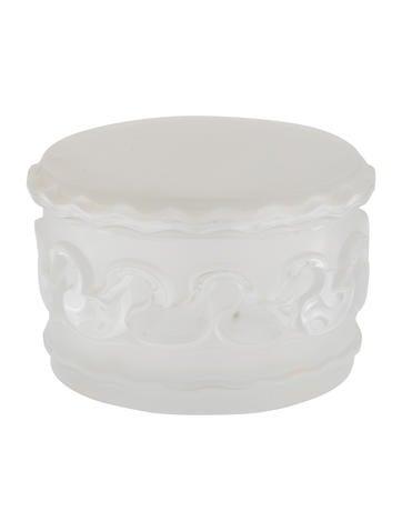 Lalique Crystal Swan Box None