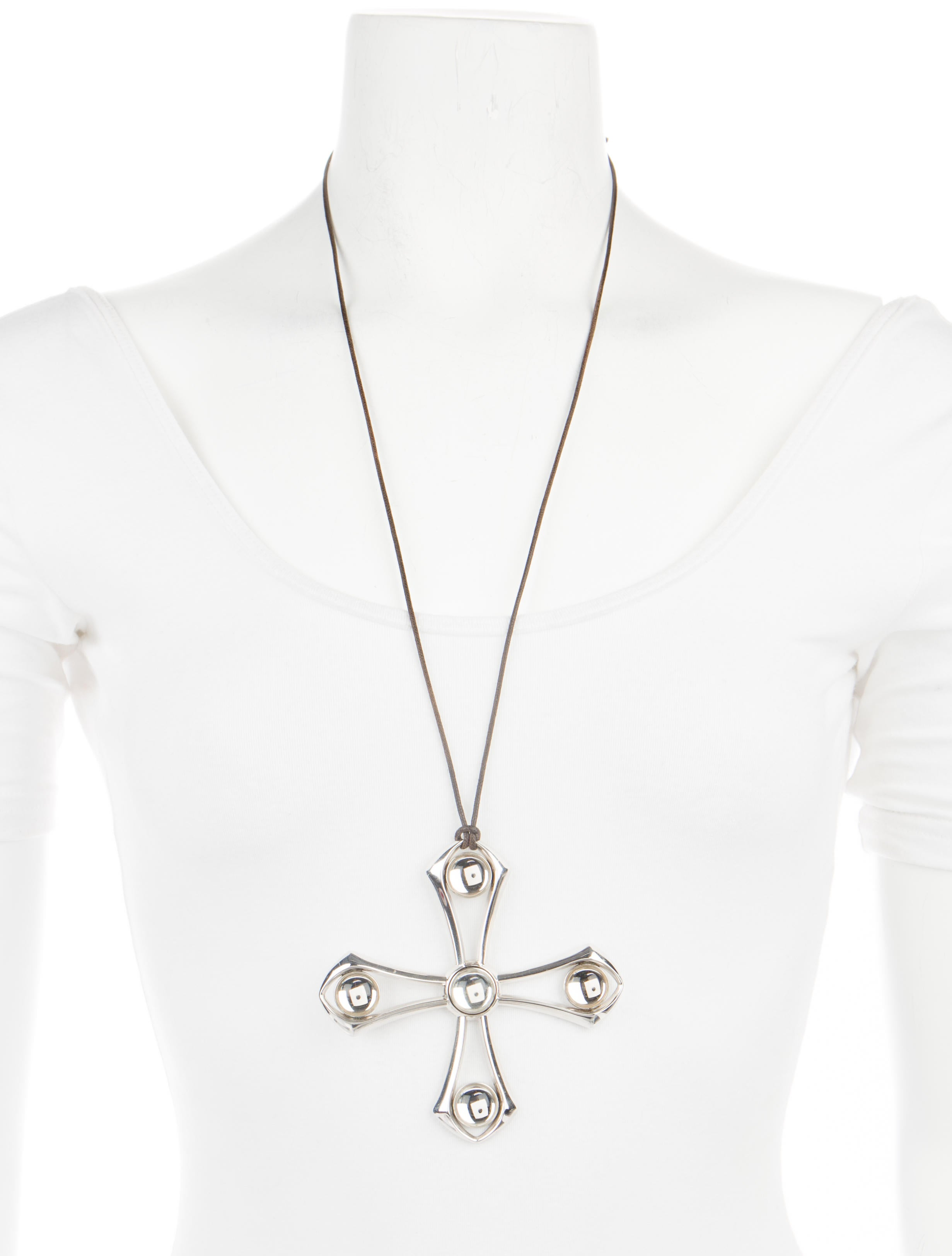 Lalique osmose large cross pendant necklace necklaces wlq23333 osmose large cross pendant necklace aloadofball Gallery