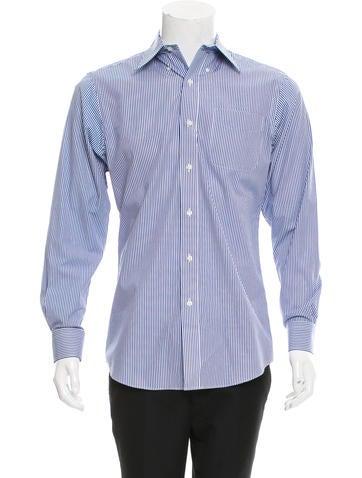 Lauren Ralph Lauren Striped Button-Up Shirt None