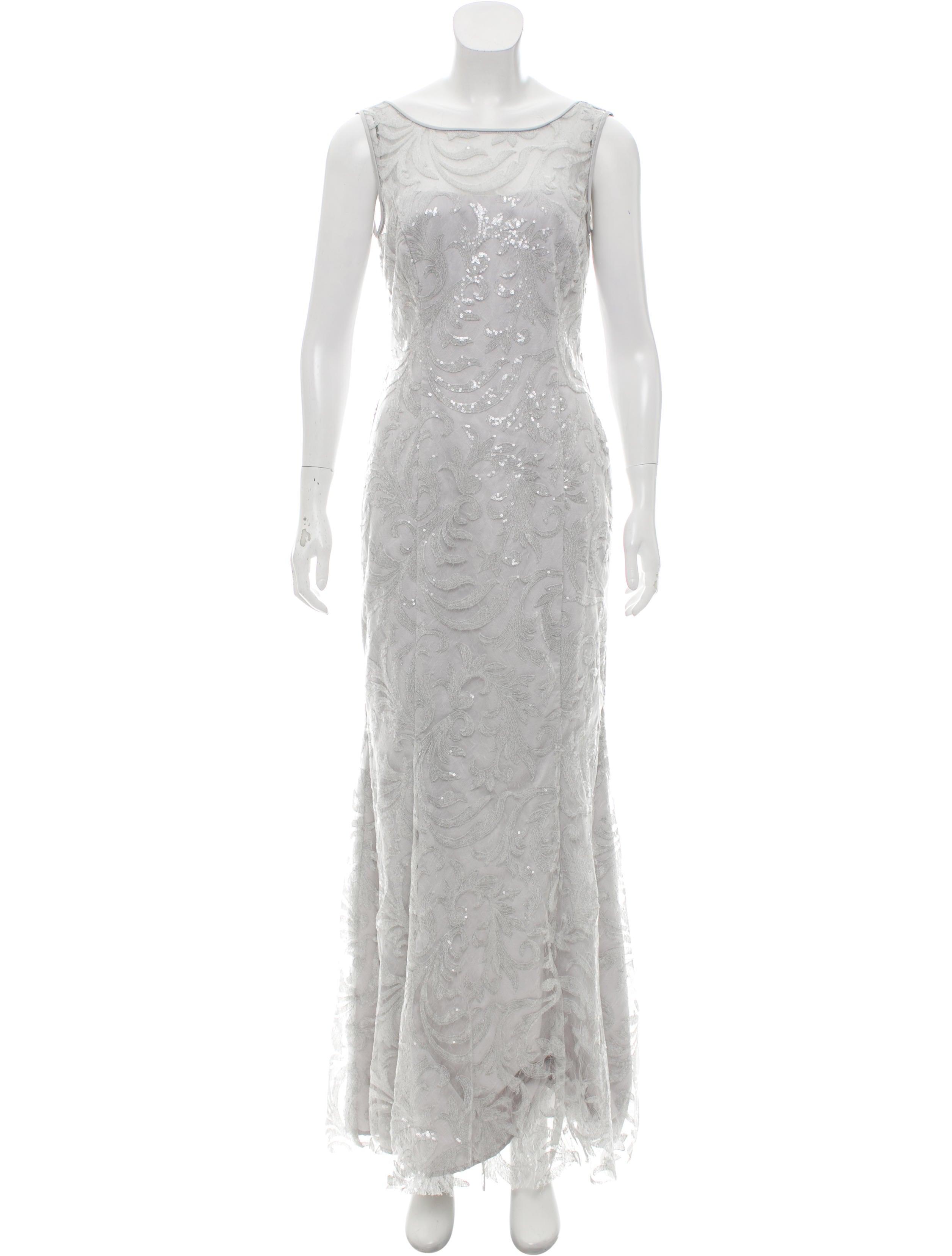 Lauren Ralph Lauren Sequined Evening Dress - Clothing - WLRLN20590 ...