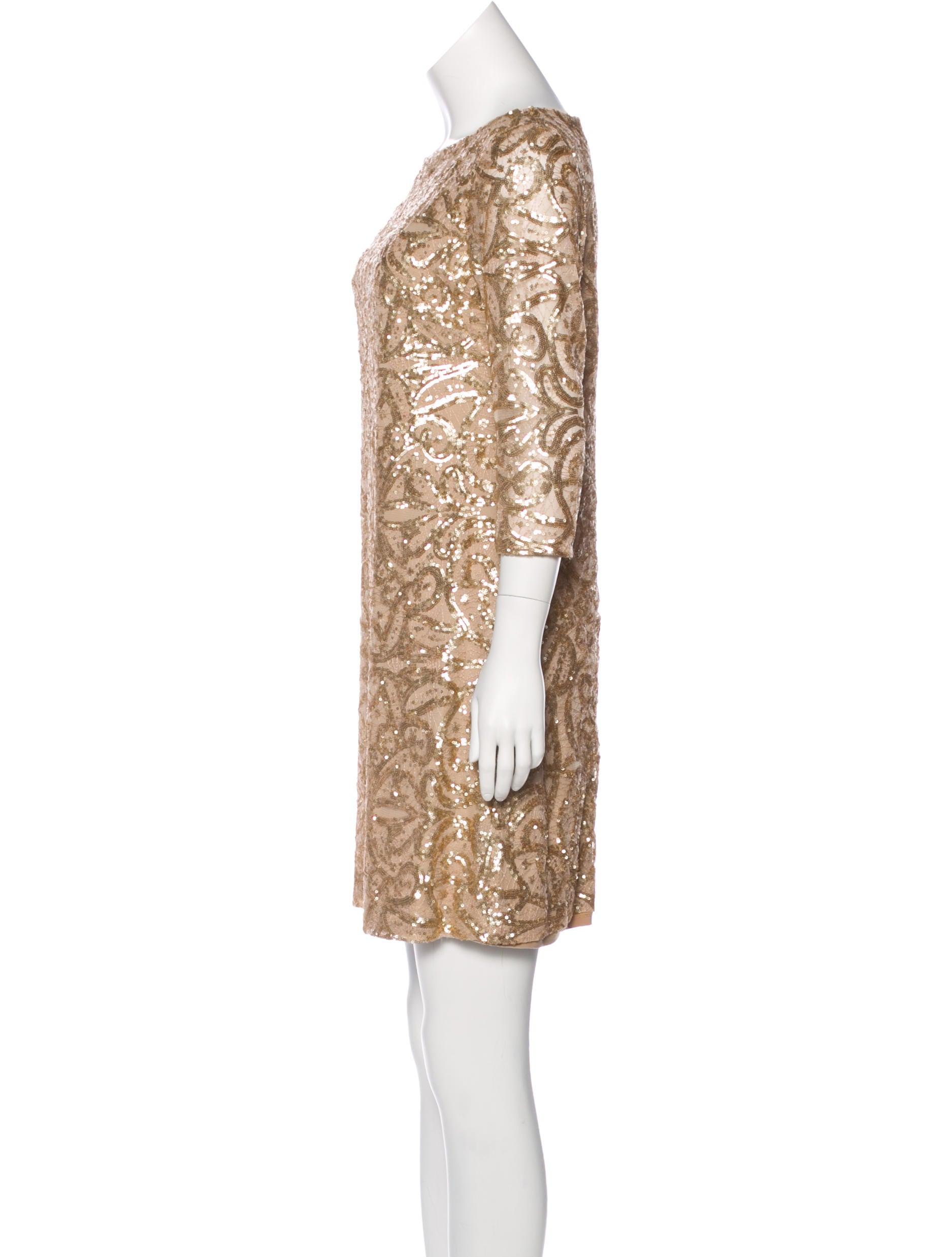 Lauren Ralph Lauren Sequined Mini Dress - Clothing - WLRLN20771 ...