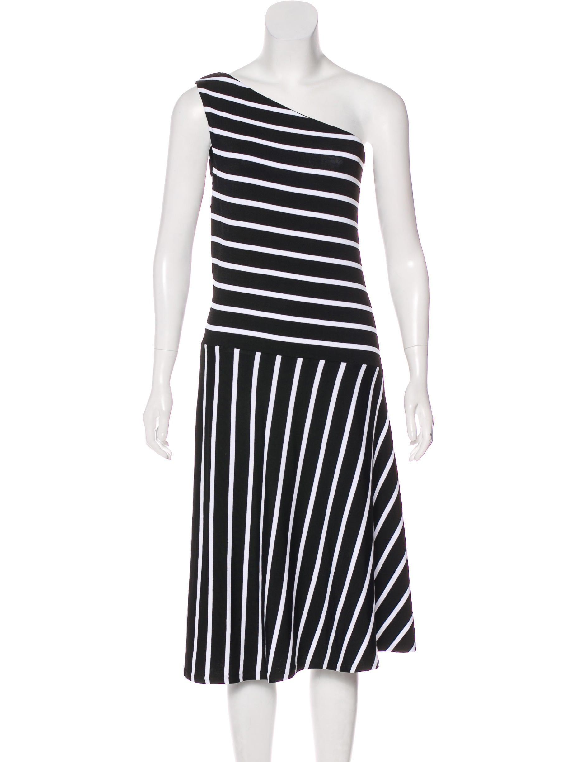 Lauren Ralph Lauren One-Shoulder Striped Dress w/ Tags - Clothing ...