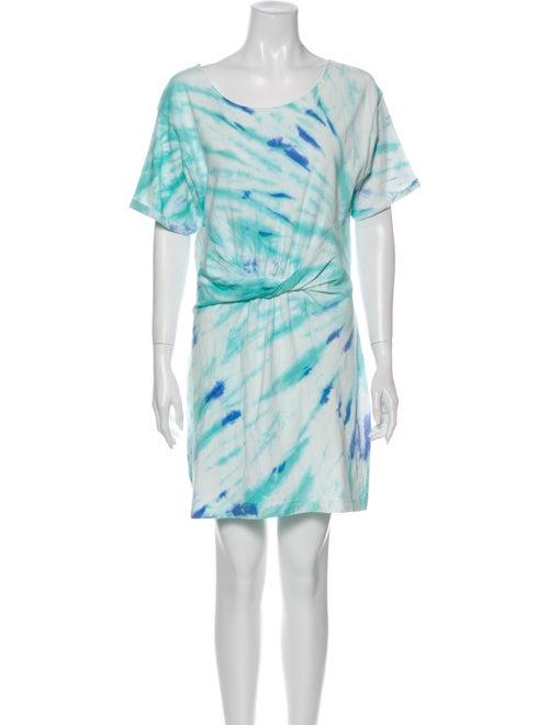LSpace Tie-Dye Print Mini Dress w/ Tags Green