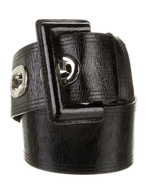 Luisa Spagnoli Patent Leather Belt Black