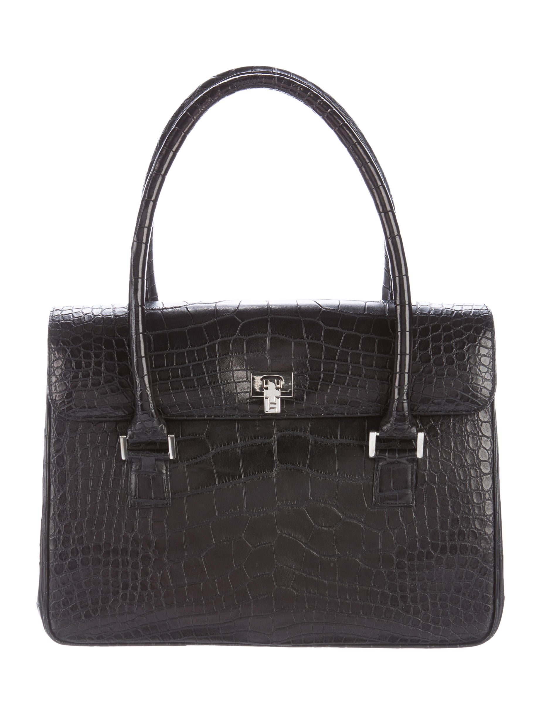 Lambertson Truex Alligator Flap Tote - Handbags - WLT20281 : The RealReal