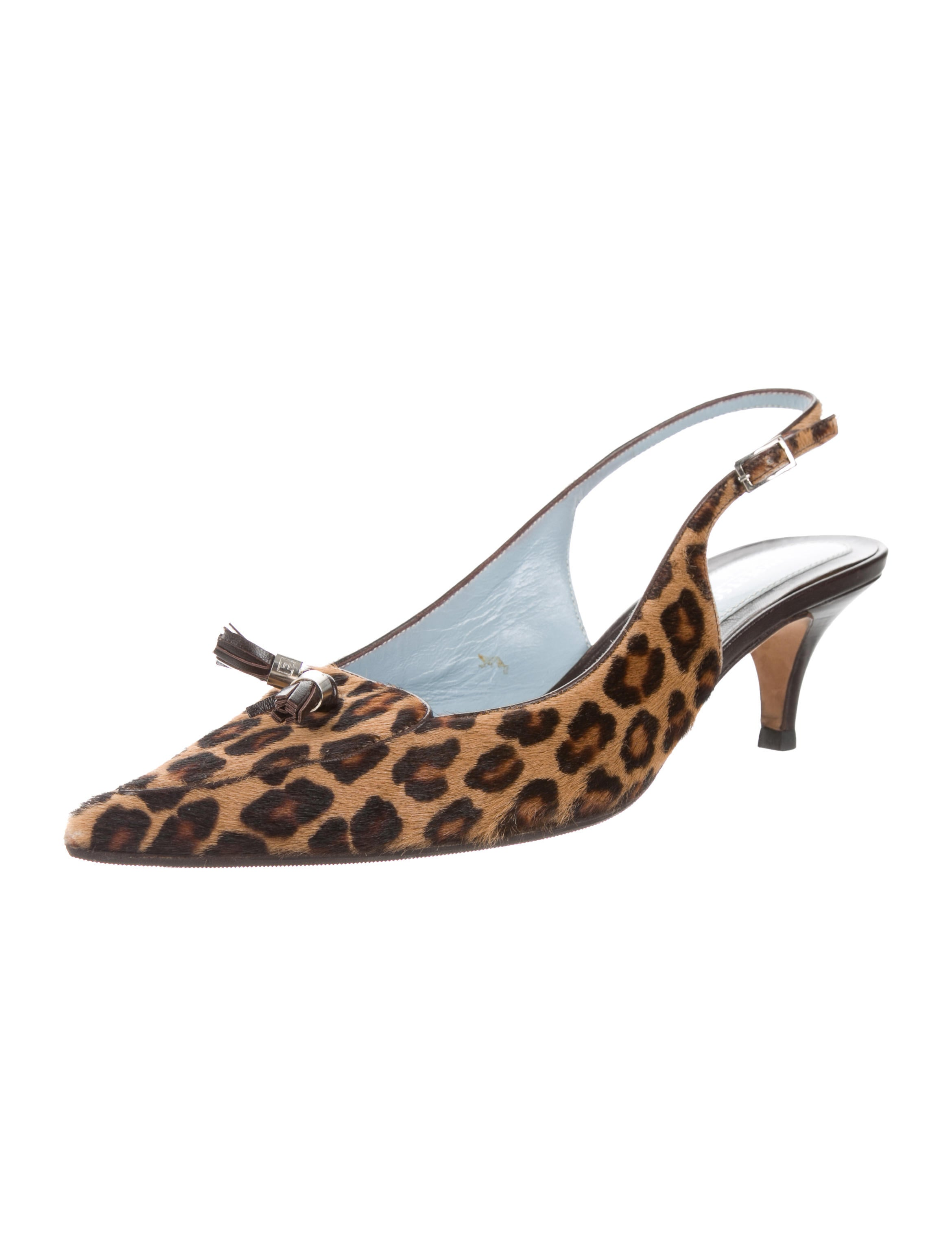 on hot sale Lambertson Truex Ponyhair Slingback Pumps 2014 new countdown package sale online buy cheap largest supplier i0YcU