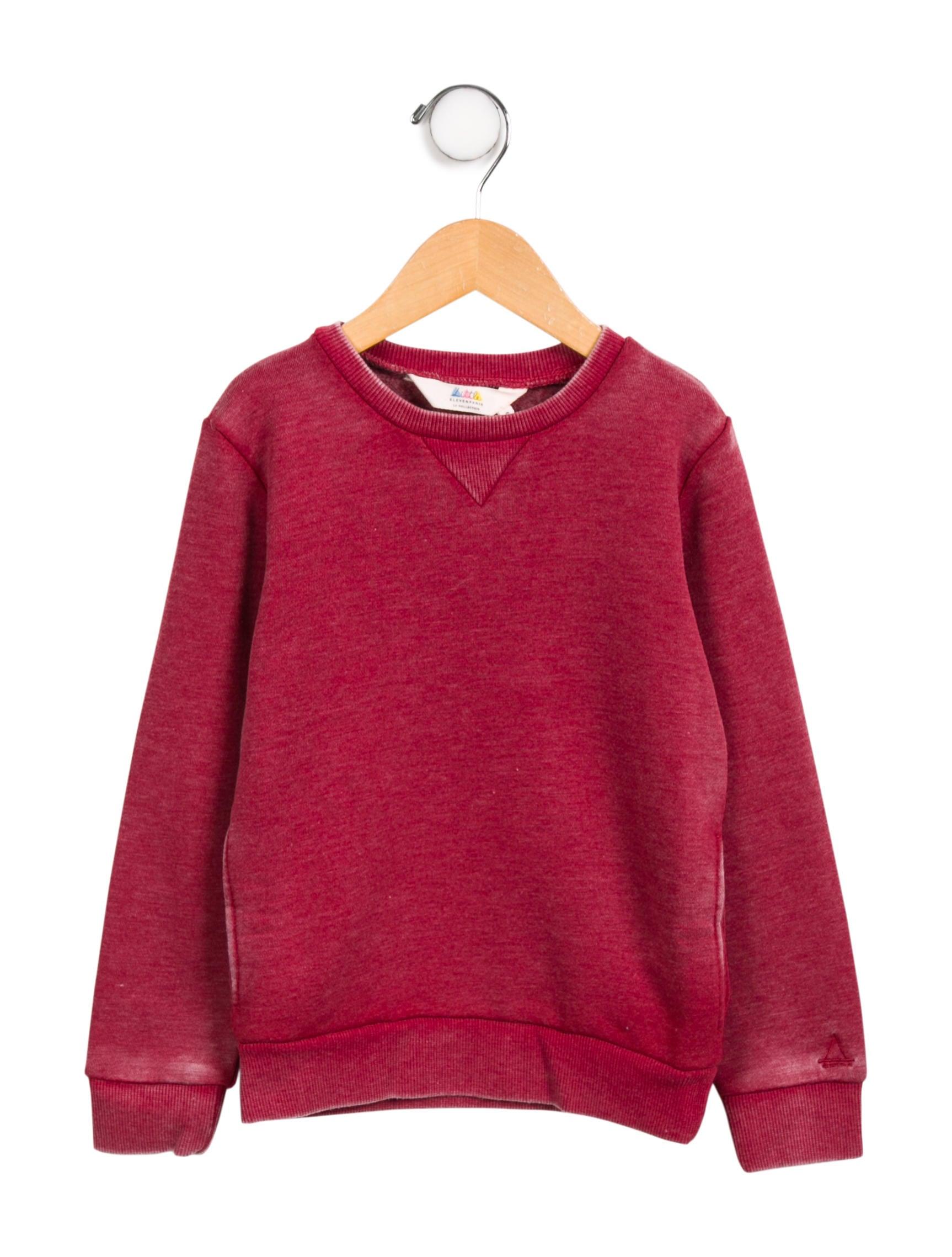 3164c3f8c71 Little Eleven Paris Boys  Distressed Long Sleeve Sweatshirt - Boys ...