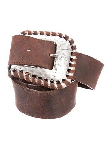 Leatherock Distressed Leather Belt None