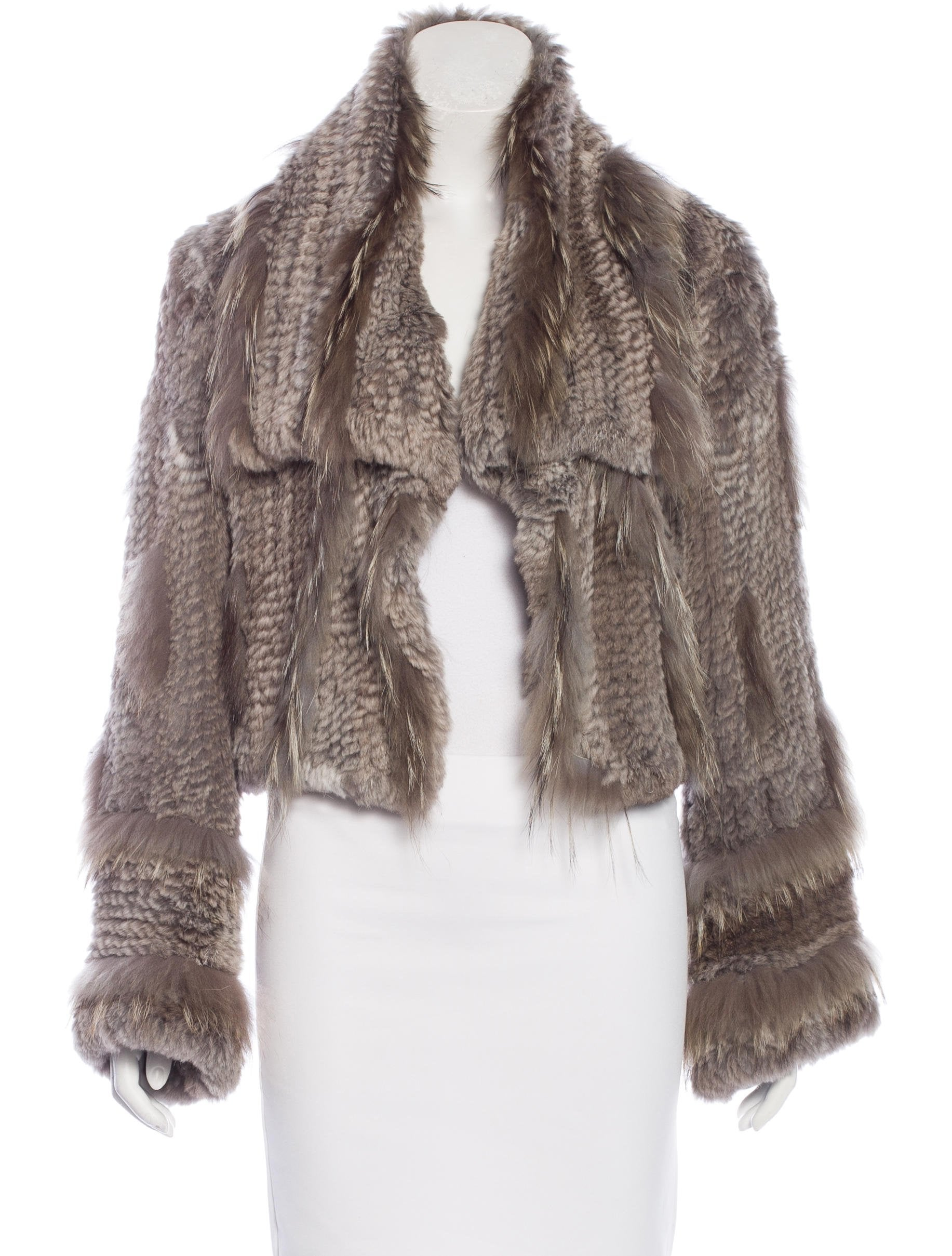 Love Token Knitted Fur Jacket - Clothing - WLTOK20008 The RealReal