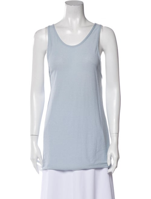 Live The Process Scoop Neck Sleeveless Top Blue