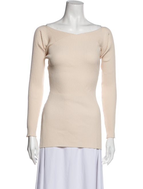 Live The Process Bateau Neckline Sweater White