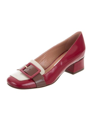 L'Autre Chose Buckle Square-Toe Pumps w/ Tags cheap big discount sale explore from china for sale wide range of vlEENLmn