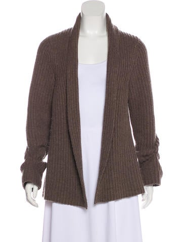 Lutz & Patmos Rib Knit Wool Cardigan None