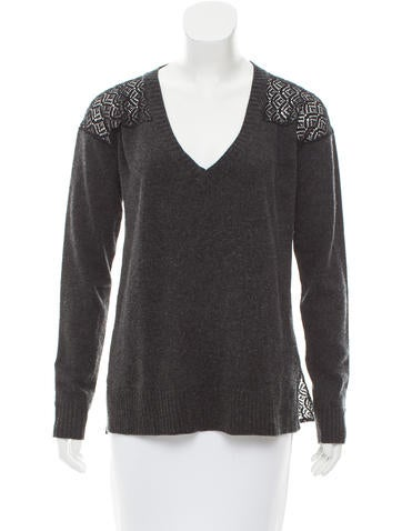 Madison Marcus Silk & Cashmere-Blend Sweater None