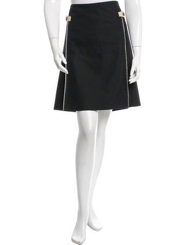 Mayle A-Line Epaulet Skirt