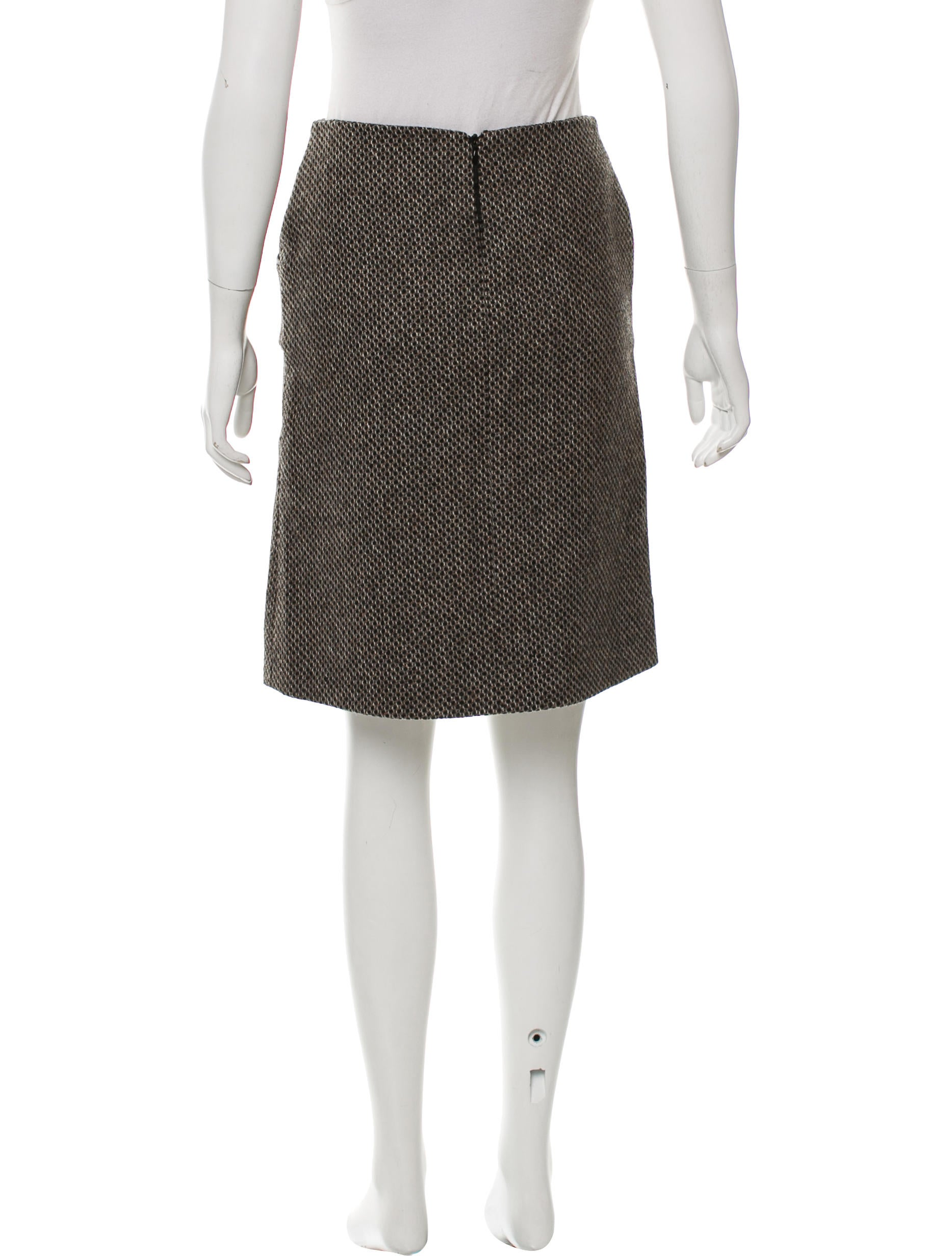 mayle leather trim wool skirt clothing wm321584 the