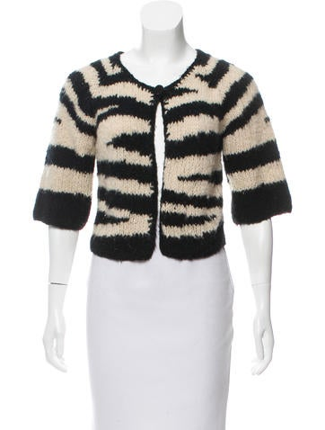 Mayle Striped Knit Cardigan None