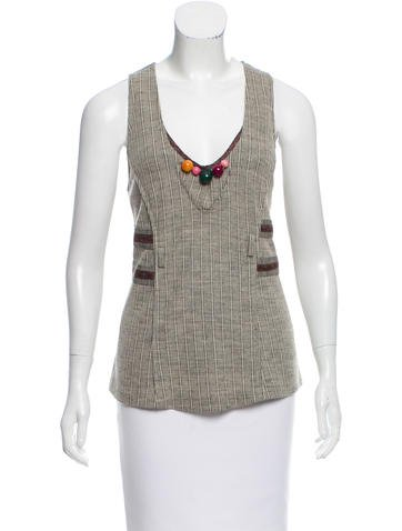 Mayle Sleeveless Knit Top None