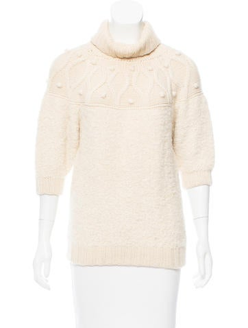 Mayle Alpaca Turtleneck Sweater None