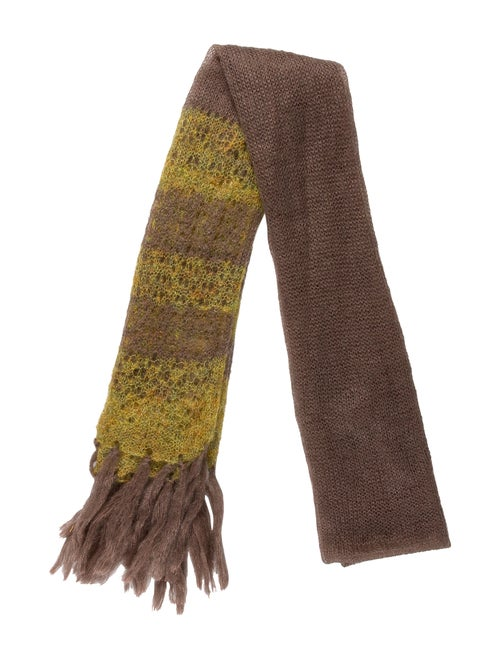 Mayle Wool Blend Scarf chartreuse