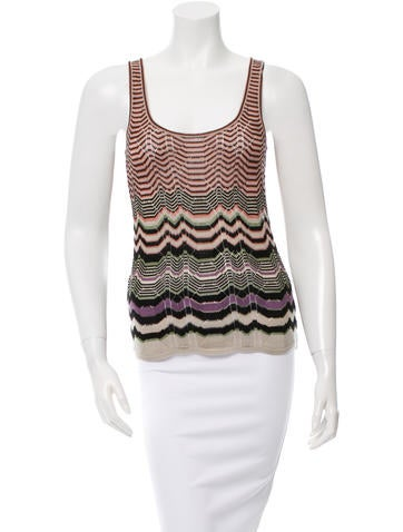 M Missoni Sleeveless Patterned Top None
