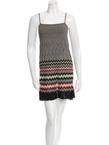 M Missoni Sleeveless Patterned Dress None