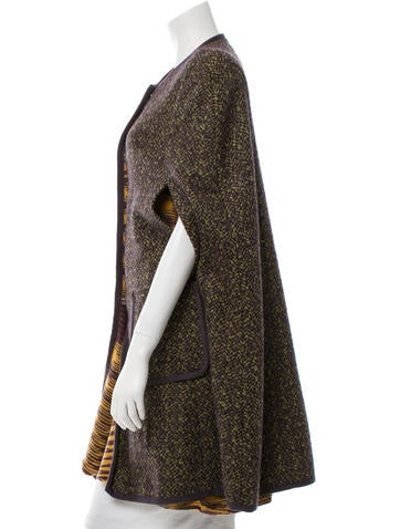 Patterned Knee-Length Cape