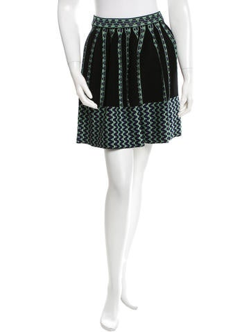 M Missoni Patterned A-Line Skirt w/ Tags None