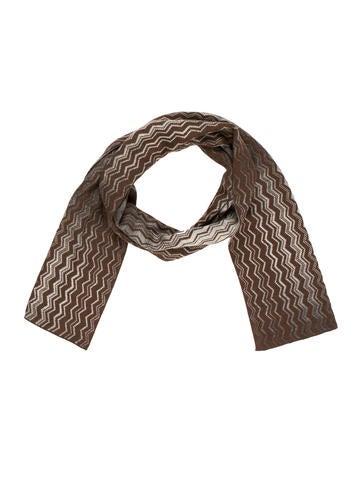 M Missoni Wool Rib Knit Scarf None
