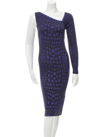 M Missoni Knit One-Sleeve Dress None
