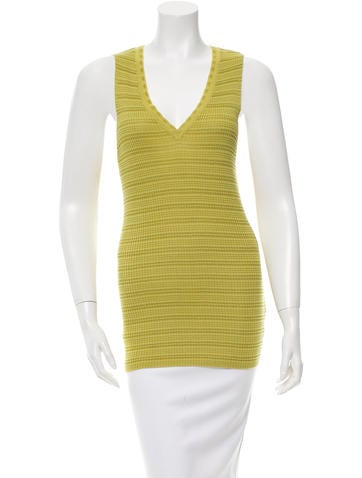 M Missoni Knit V-Neck Top w/ Tags None
