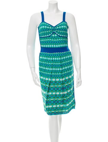 M Missoni Patterned Knee-Lenth Dress w/ Tags None