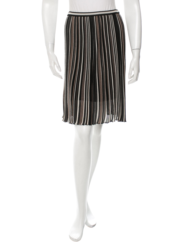 m missoni striped pleated skirt clothing wm432071