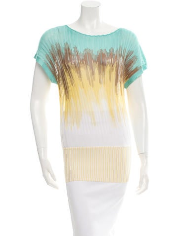 M Missoni Ruched Rib Knit Top None