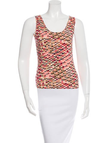 M Missoni Printed Sleeveless Top None