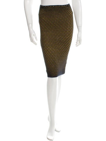 M Missoni Metallic Knit Skirt None