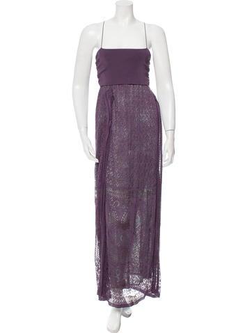 M Missoni Knit Empire Waist Midi Dress None