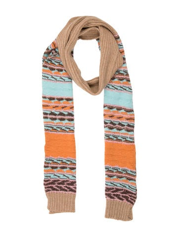 M Missoni Striped Wool Blend Scarf None