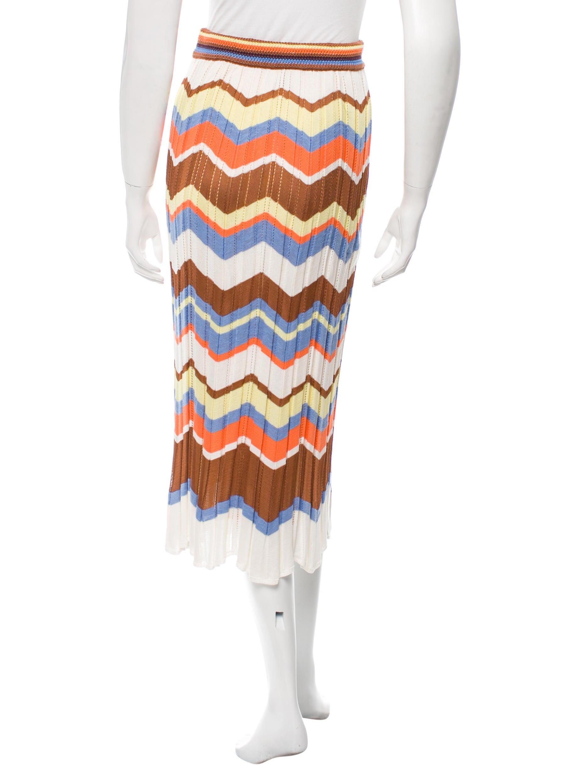 m missoni printed knit midi skirt clothing wm433656