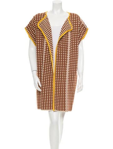 M Missoni Patterned Open-Front Cardigan None