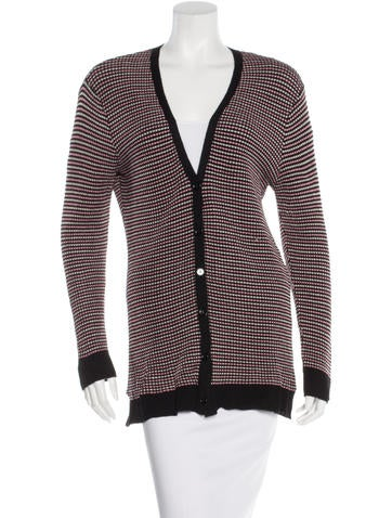 M Missoni Striped V-Neck Cardigan None