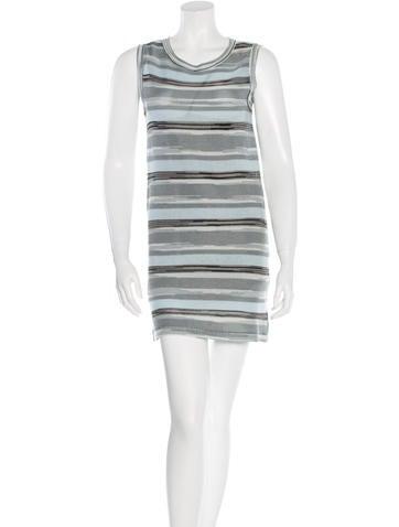 M Missoni Knit Striped Mini Dress