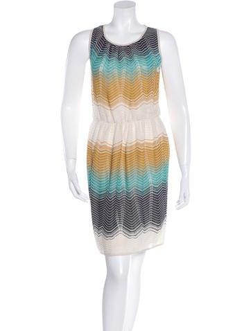 M Missoni Pointelle Knit Striped Dress None