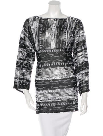 M Missoni Long Sleeve Knit Tunic None