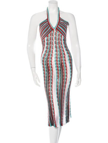 M Missoni Rib Knit Halter Dress None
