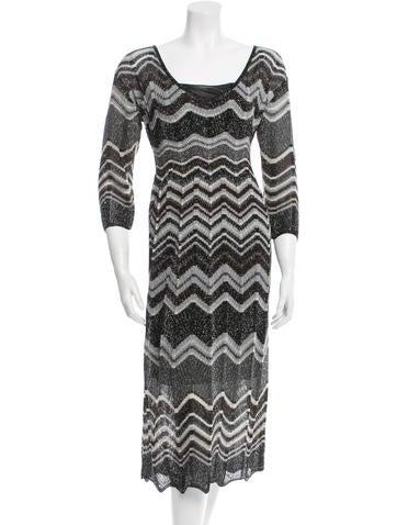 M Missoni Metallic Knit Dress None