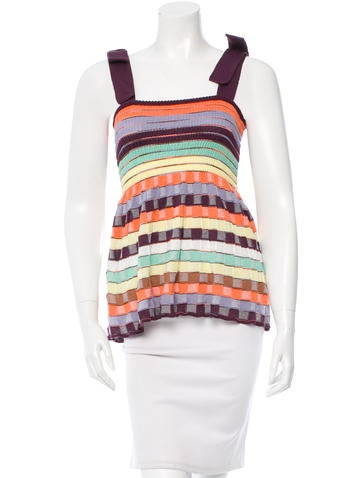 M Missoni Open Knit Patterned Top w/ Tags None
