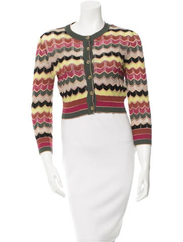 M Missoni Patterned Cropped Cardigan w/ Tags None