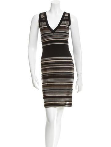 M Missoni Striped Wool Dress None